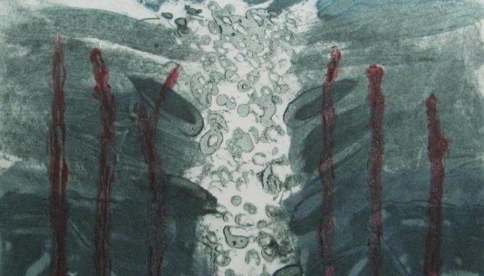 Margaret Tuffy,   Precipice 1, Carborundum, Image Size: 25 x 19.5cm, paper size: 38 x 53cm , €180