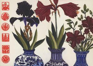 Graphic Studio Dublin: Jean Bardon: Iris, Amaryllis & lilies