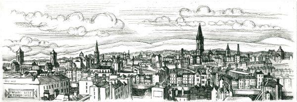 Graphic Studio Dublin: Brian Lalor, Strumpet City in the Sunset