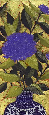 Graphic Studio Dublin • Jean Bardon: Graphic Studio Dublin: Hydrangea with Gold Leaf