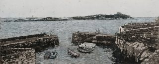 Susan Early, Coliemore, ed. of 50, etching & aquatint, plate- 12 x 32cm, paper- 27 x 45cm. Unframed price- €230