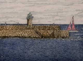 Susan Early, Dun Laoghaire West, ed. of 50, etching & aquatint, plate- 15 x 20cm, paper 27 x 32 Unframed price- €230