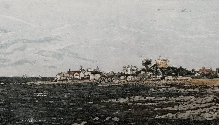 Susan Early, Sandycove, ed. of 50, etching & aquatint, plate- 12 x 32cm, paper- 27 x 45cm. Unframed price- €230