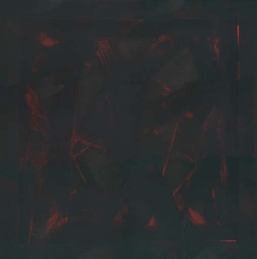 Graphic Studio Dublin: Michael Coleman, Untitled (Black on orange)