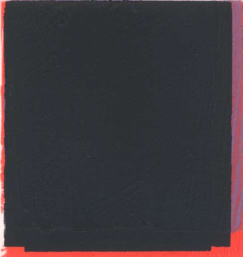 Graphic Studio Dublin: Michael Coleman, Untitled (Black over Red and Purple)