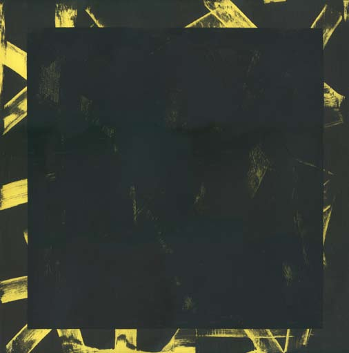 Graphic Studio Dublin: Michael Coleman, Untitled (Black Square on Lemon Yellow)