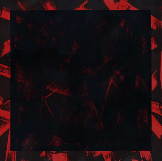 Graphic Studio Dublin: Michael Coleman, Title: Untitled (Black Square on Red)