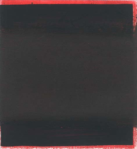 Graphic Studio Dublin: Michael Coleman, Untitled (Black Square over Red)