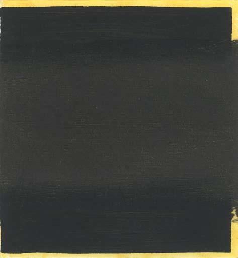 Graphic Studio Dublin: Michael Coleman, Untitled (Black Square over Yellow)