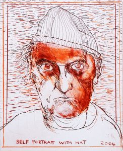 Brian Bourke, Self Portrait with Hat