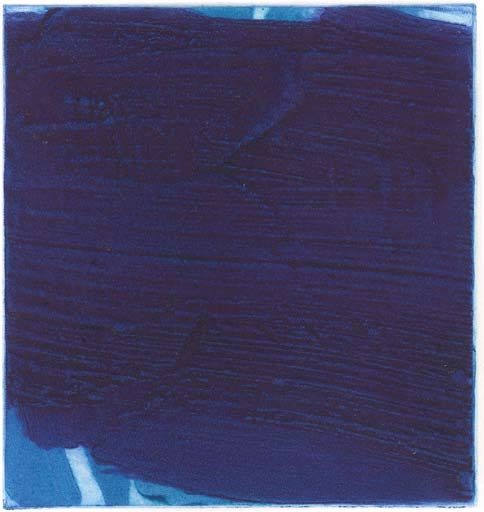 Graphic Studio Dublin: Michael Coleman, Untitled (Dark Blue over Light Blue and White)