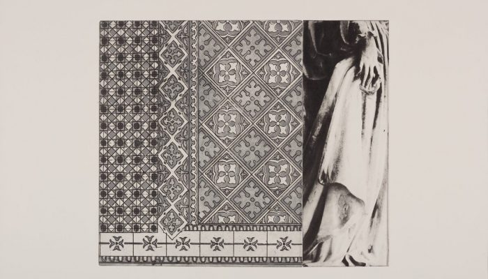 G O'Reilly. 2016. Walking the floor. Photo and traditional etching.400 euro unframed