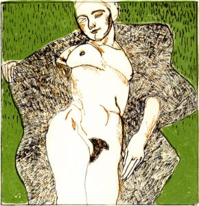 Domestic Intimacy, Green Background