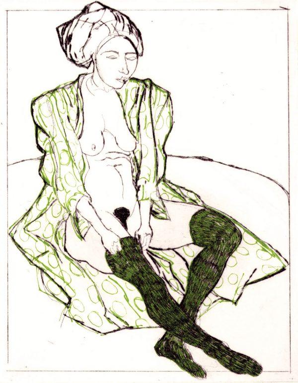 Graphic Studio Dublin: Brian Bourke, La Bella Barmaid