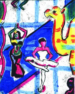 Graphic Studio Dublin •Michael Cullen: Graphic Studio Dublin: Dancers with Camel