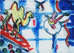 Graphic Studio Dublin •Michael Cullen: Graphic Studio Dublin: Ballet Scene with Bactrian Camel