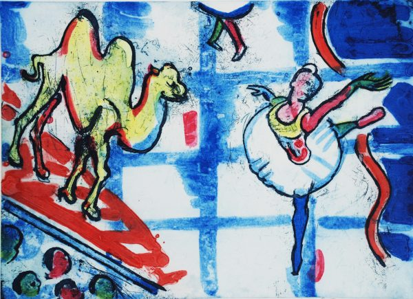 Graphic Studio Dublin: Michael Cullen, Ballet Scene with Bactrian Camel