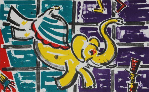 Graphic Studio Dublin: Capering Elephant, Michael Cullen
