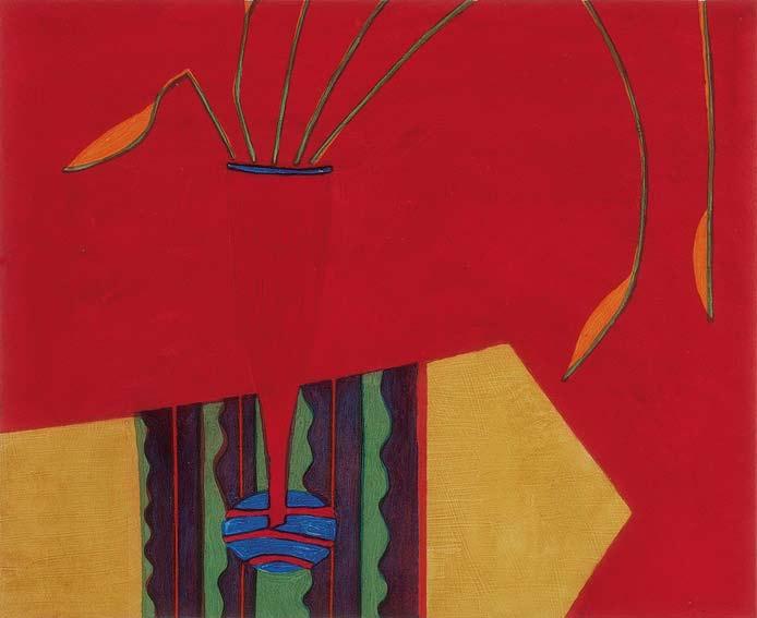 Graphic Studio Dublin: Jane O'Malley, Red Vase