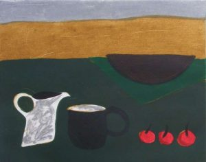Graphic Studio Dublin • Jane O'Malley: Graphic Studio Dublin: Untitled Jug Cup and 3 Cherries
