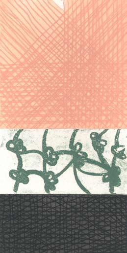 Graphic Studio Dublin • John Noel Smith: Graphic Studio Dublin: Untitled (Peach, Green Flowers, Black)