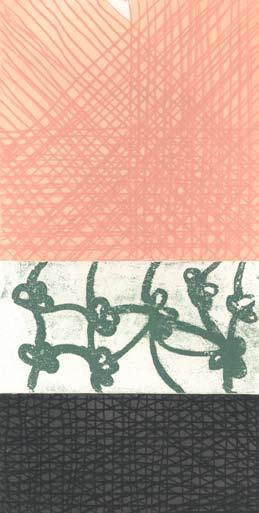 Graphic Studio Dublin •John Noel Smith: Graphic Studio Dublin: Untitled (Peach, Green Flowers, Black)