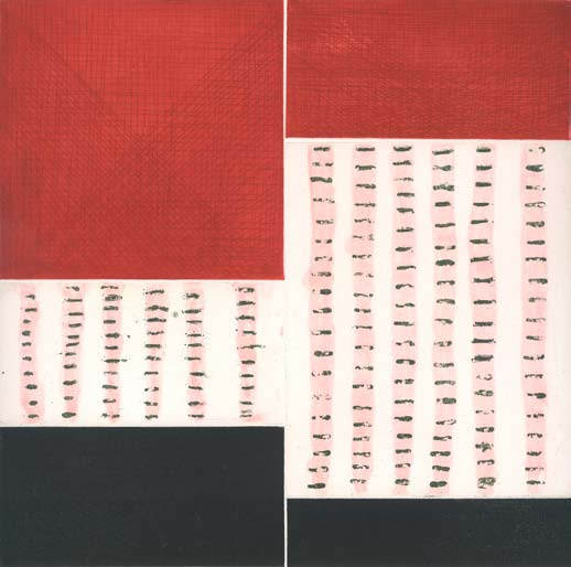 Graphic Studio Dublin: John Noel Smith, Untitled (Red and Black)