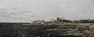 Susan Early Sandycove 2017 Etching (12 x 30) 26 x 46 6.5cm €240