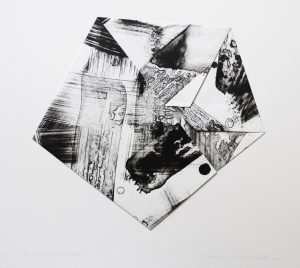 Graphic Studio Dublin • Ciaran Lennon: Graphic Studio Dublin: Folded Lithograph (Black and White)
