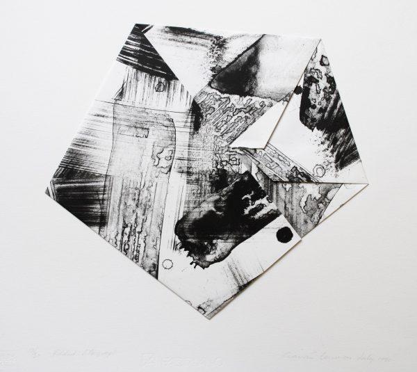 Graphic Studio Dublin: Ciaran Lennon, Folded Lithograph (Black and White)
