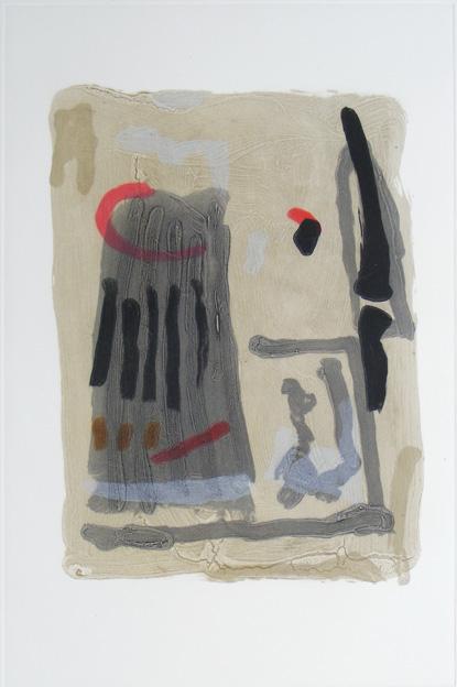 Graphic Studio Dublin: Tony O'Malley, Untitled (Grey Rectangle)