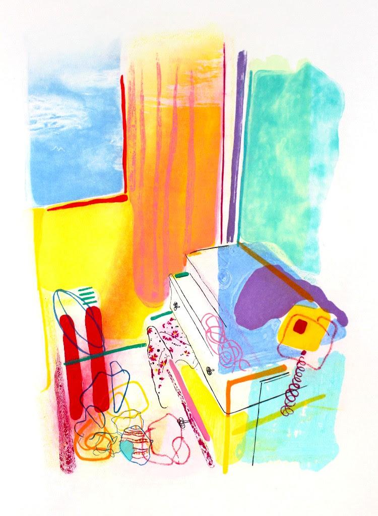 Graphic Studio Dublin: Aoife Scott: Sky Blue Sky