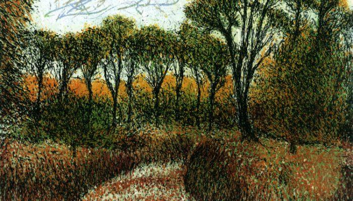 Daniel Lipstein, Autumn at the Garden's Depth