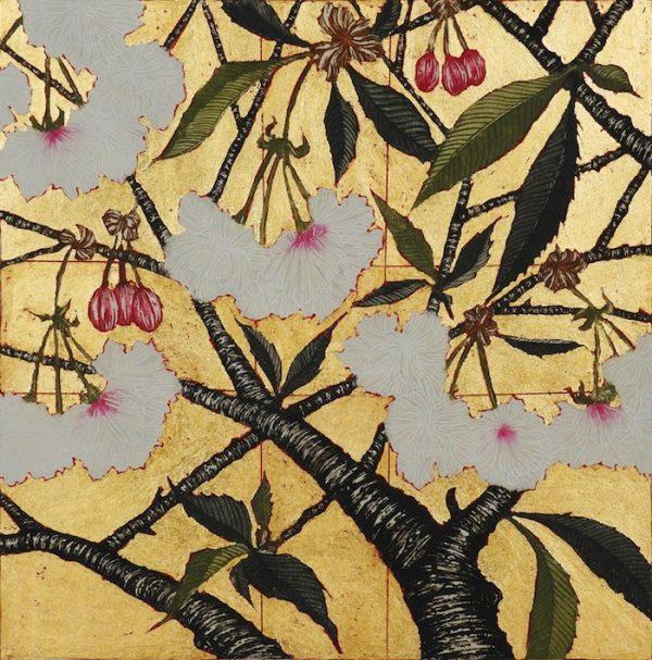 Graphic Studio Dublin: Jean Bardon, Cherry Blossom with gold leaf
