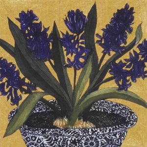Graphic Studio Dublin • Jean Bardon: Dark Hyacinths with gold leaf