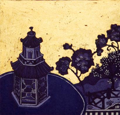 Graphic Studio Dublin: Jean Bardon, Blue Pavilion