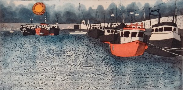 Graphic Studio Dublin: Mary Grey, Skerries Harbour VII