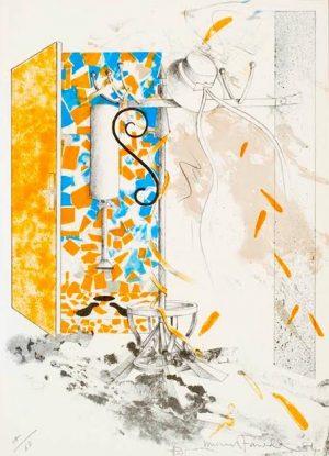 Graphic Studio Dublin •Micheal Farrell: Graphic Studio Dublin: Michael Farrell, Porte Orange