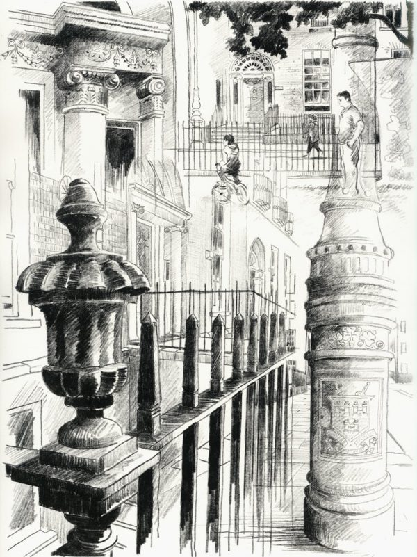 Graphic Studio Dublin: Liam O'Broin, Mountjoy Square Sketchbook