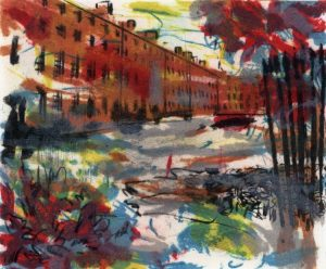 Graphic Studio Dublin: Deirdre Shanley, View of Mountjoy Square