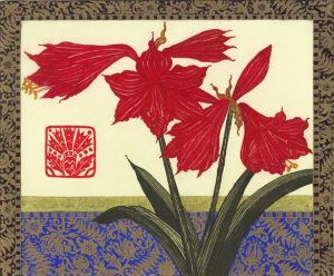 Graphic Studio Dublin • Jean Bardon: Graphic Studio Dublin: Amaryllis, Lapis Lazuli and Gold