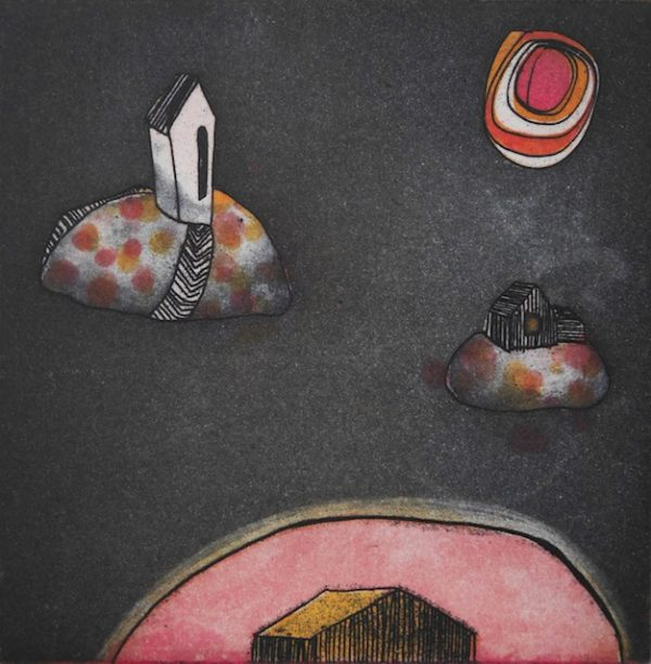 Graphic Studio Dublin: Niamh Flanagan, planets of the night II: the space between