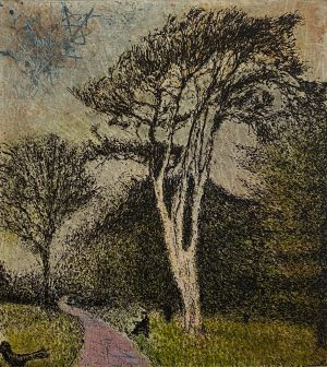 Graphic Studio Dublin •Daniel Lipstein: Tall Pine at the Garden's Depth