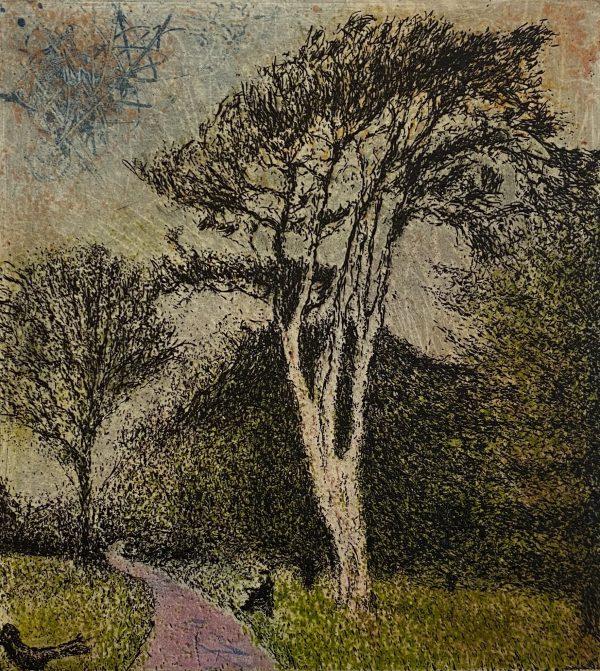 Daniel Lipstein, Tall Pine at the Garden's Depth