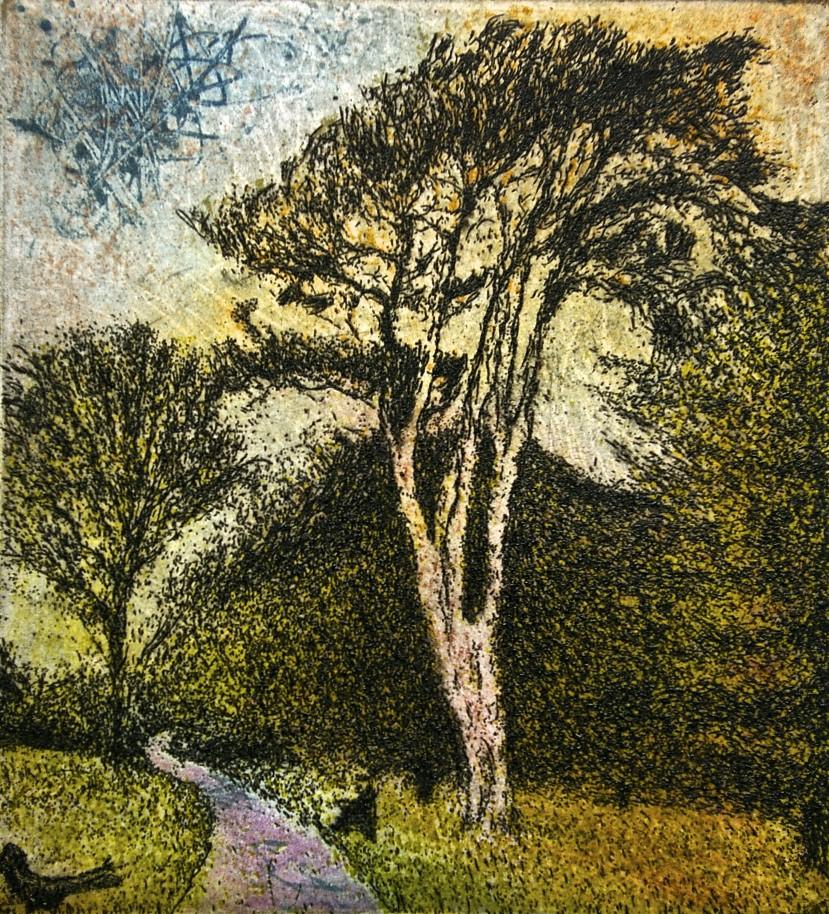 Daniel Lipstein, Tall Pine at Garden's Depth