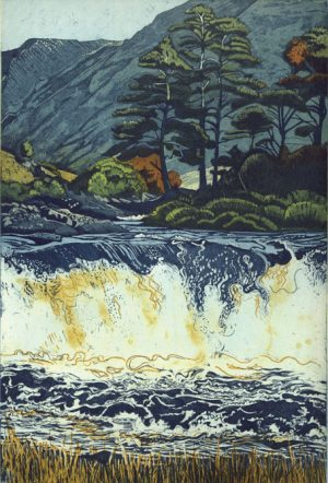 Graphic Studio Dublin •Louise Leonard: Aasleagh Falls