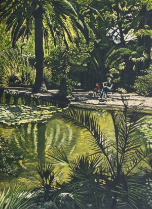 Graphic Studio Dublin • Louise Leonard: Jardins de Alfábia Edition of 30 Etching and Aquatint Image Size: 38h x 28w cm Paper Size: 57h x 44w cm €390 unframed