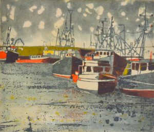 Graphic Studio Dublin • Mary Grey: Skerries Harbour VI