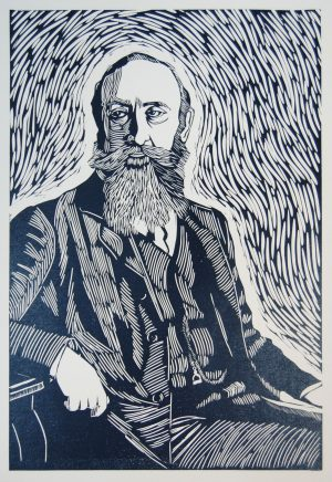 Mary Plunktett, George Noble Count Plunkett linocut