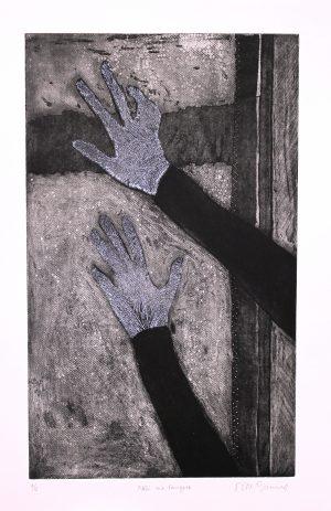 Graphic Studio Dublin •Niamh McGuinne: NiamhMcGuinne_Noli me tangere_2015_etching on paper_(50cmx30cm)_63.4x41.5cm_6.5cm_250euro (1)